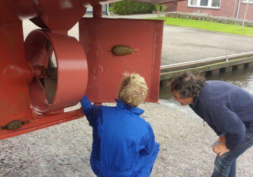 Inspectie van het onderwaterschip